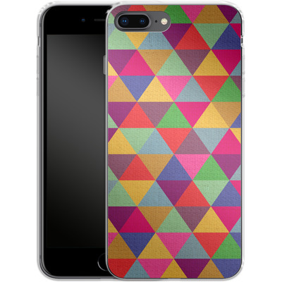 Apple iPhone 8 Plus Silikon Handyhuelle - In Love With Triangles von Bianca Green