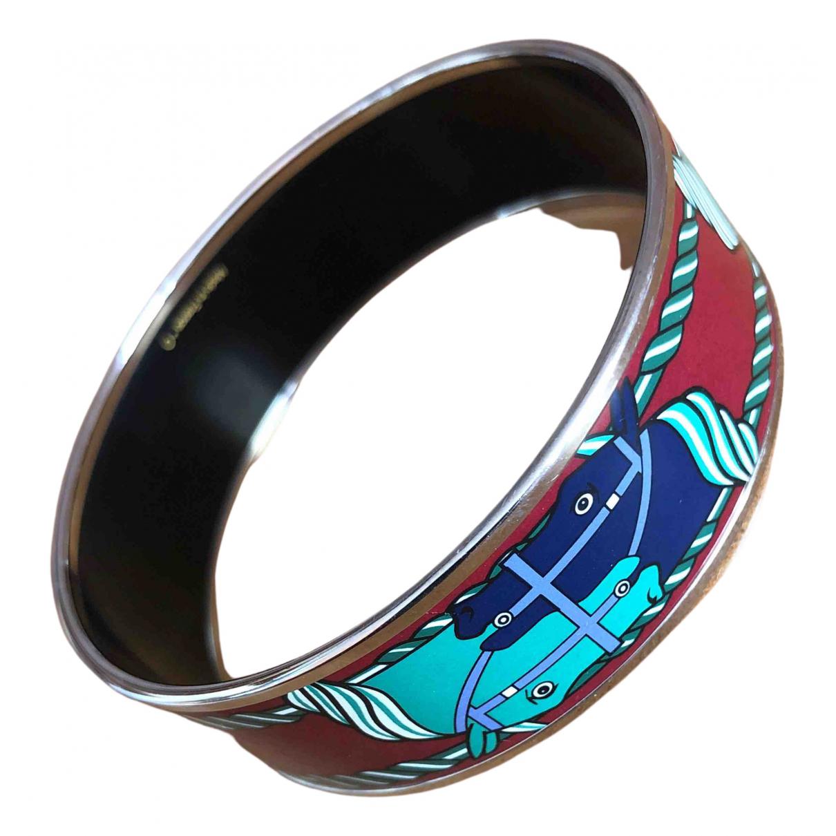 Hermes - Bracelet Bracelet Email pour femme en acier - multicolore
