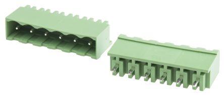 RS PRO , 6 Way, 1 Row, Vertical PCB Terminal Block Header (10)