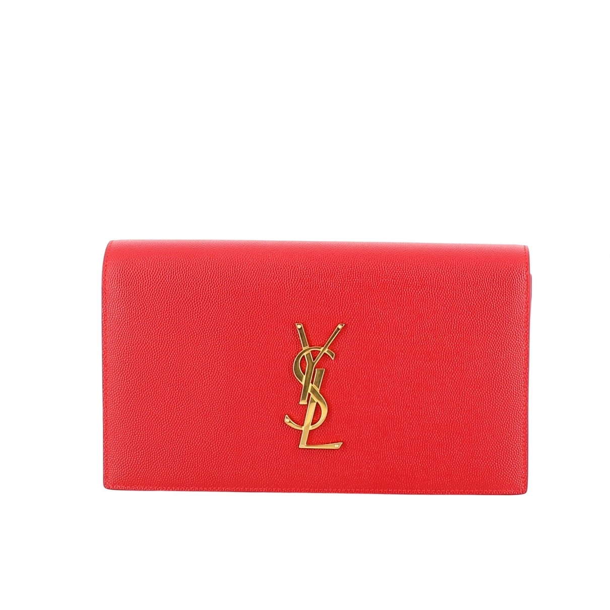 Saint Laurent \N Red Leather Clutch bag for Women \N