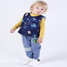 Toddler Boys Cartoon Graphic Puffer Gilet