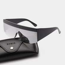 Maenner Sonnenbrille mit flachem Oberteil