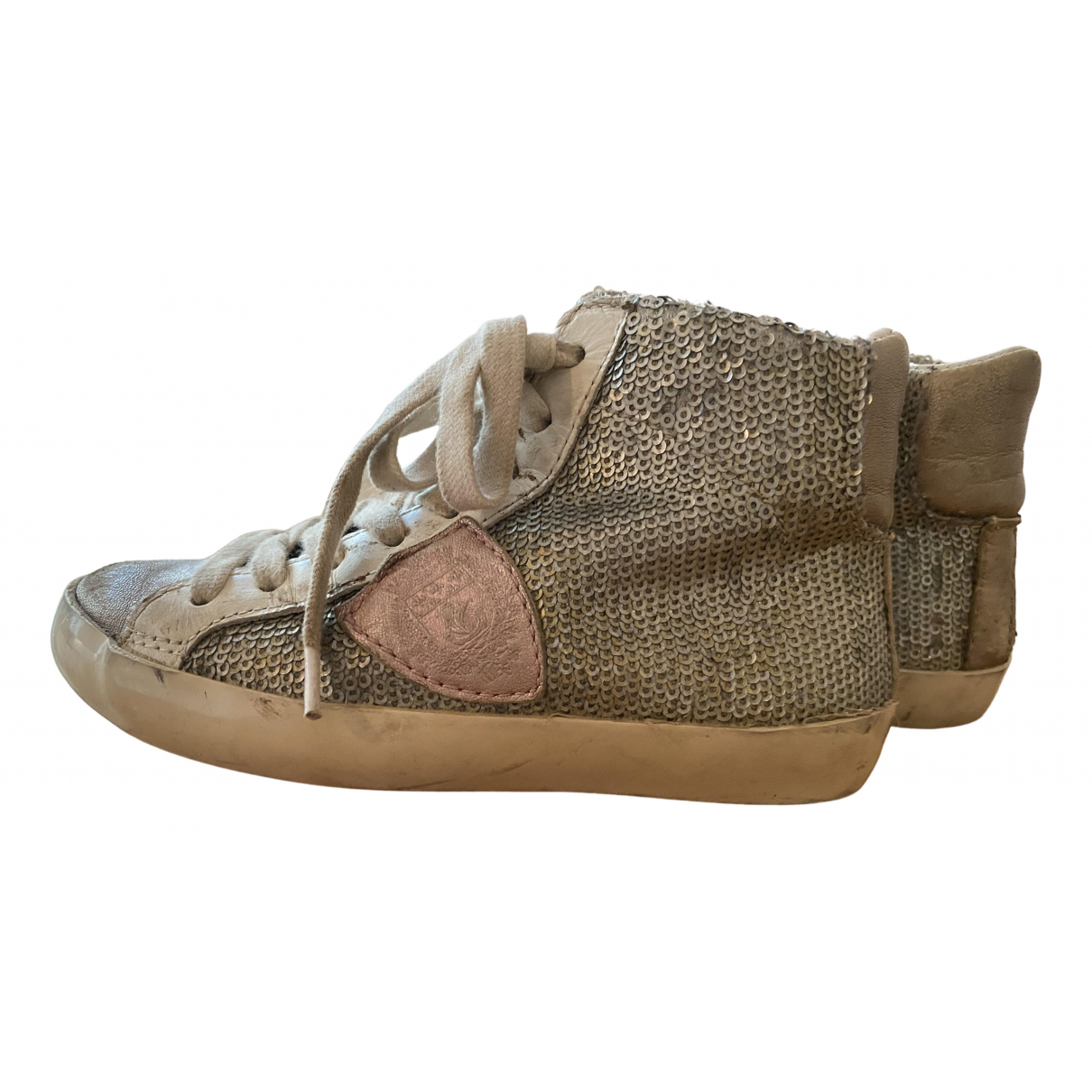 Philippe Model \N Multicolour Leather Trainers for Kids 27 FR