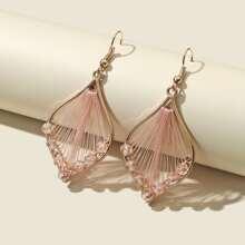 Woven Crystal Drop Earrings