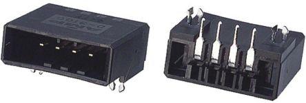 TE Connectivity , Dynamic 3000, 4 Way, 1 Row, Right Angle PCB Header