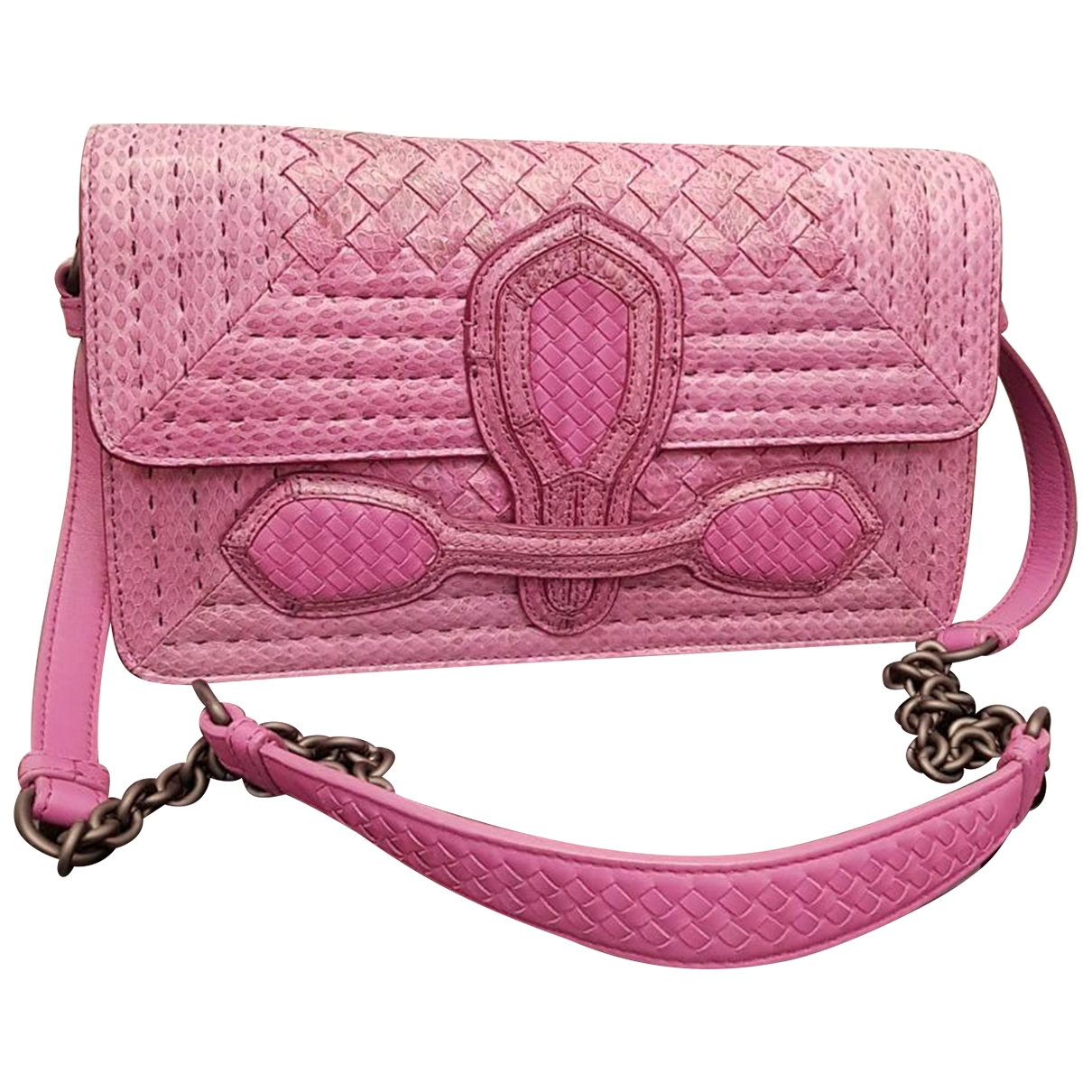Bottega Veneta \N Purple Python handbag for Women \N