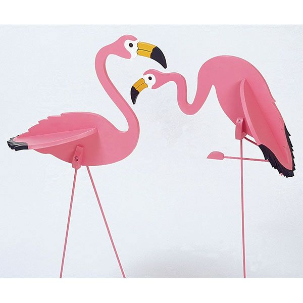 Woodworking Project Paper Plan to Build Flamingos