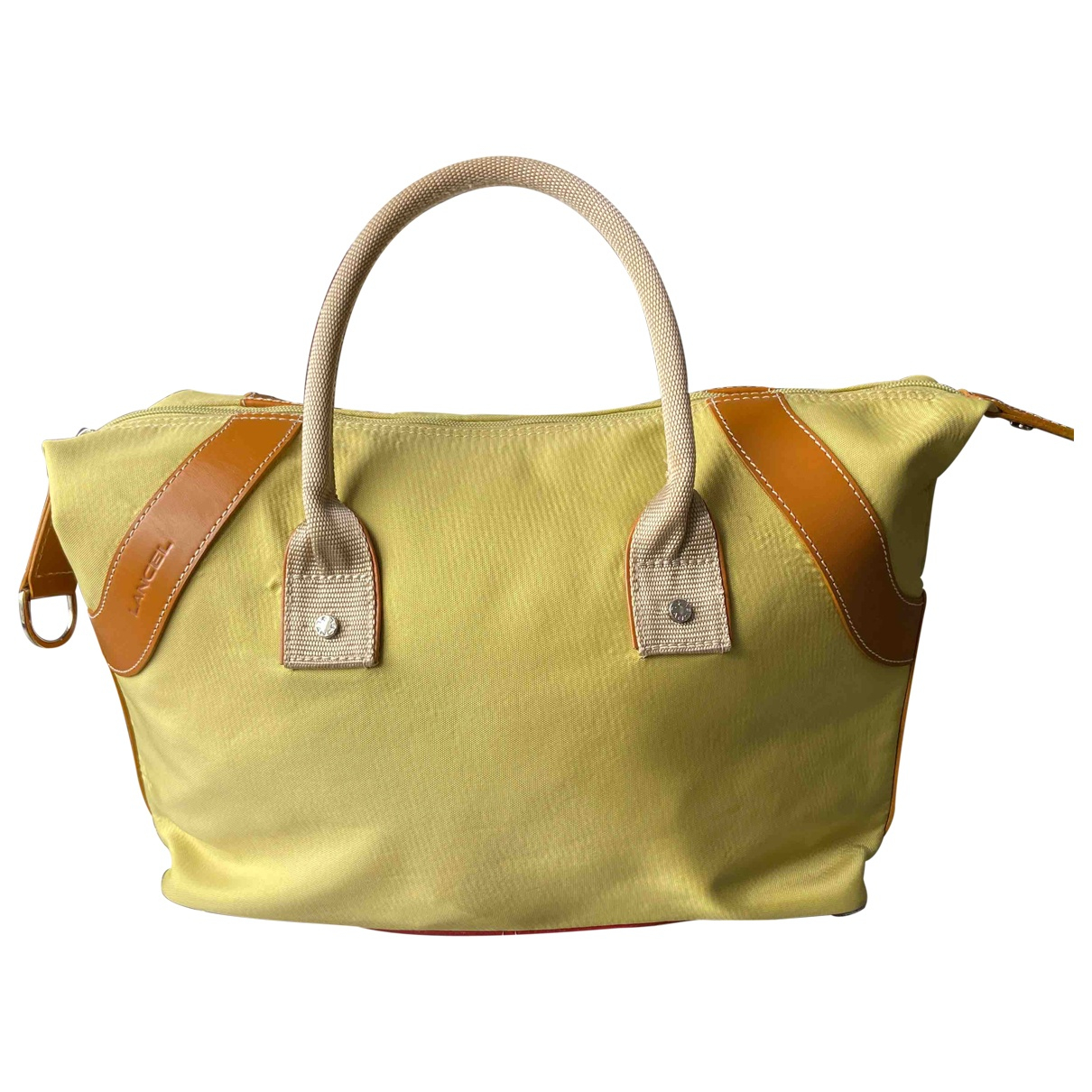Lancel \N Green Cloth Travel bag for Women \N