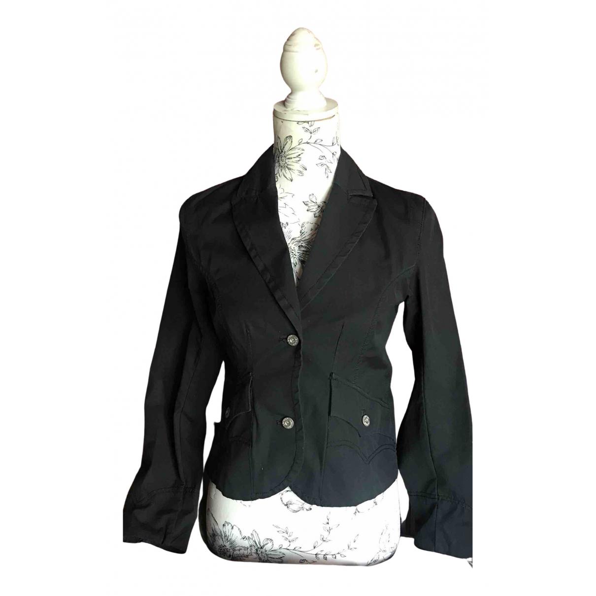 Levis N Black Cotton jacket for Women XS International