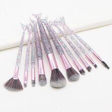 10pcs Fishtail Rod Makeup Brush