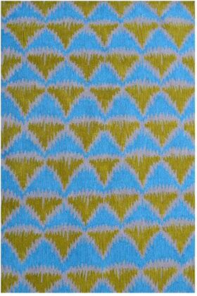 25661D 5 x 8 ft. Tropic Pyramid 1 Area Rug  in Green and