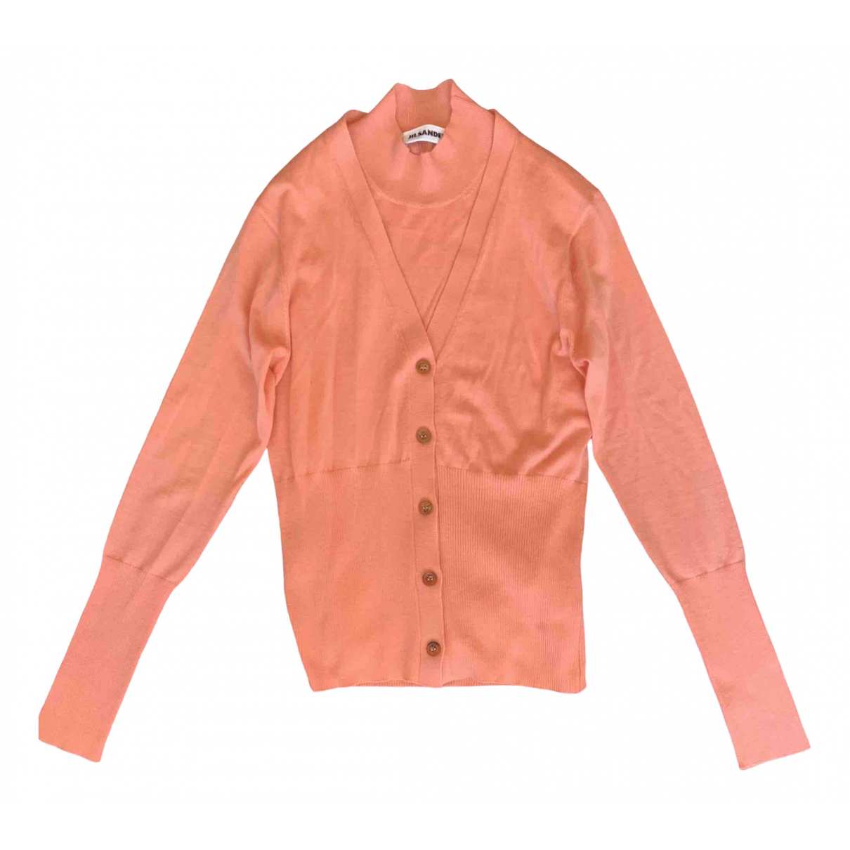 Jil Sander - Pull   pour femme en cachemire - rose