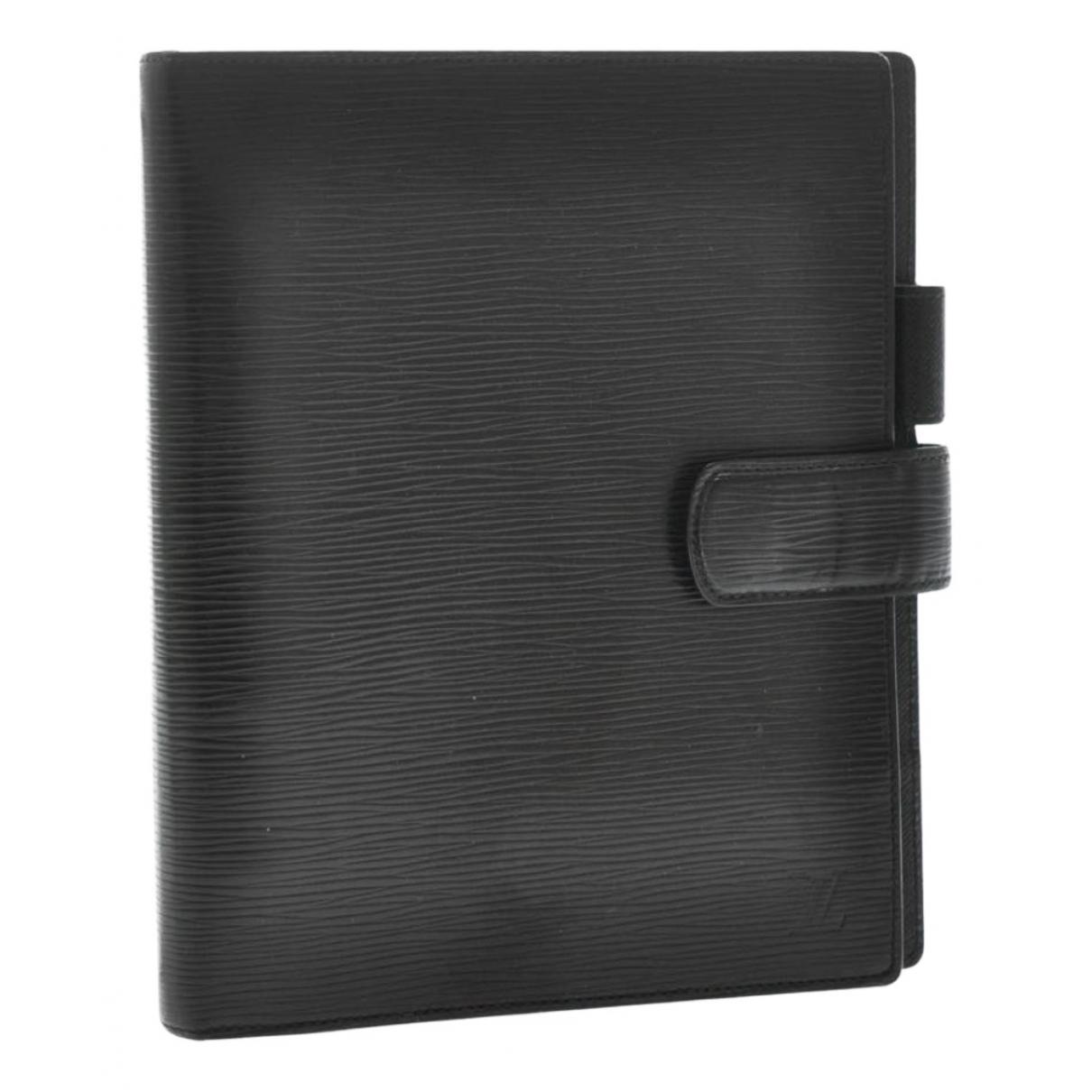 Louis Vuitton - Objets & Deco Couverture d'agenda MM pour lifestyle en cuir - noir