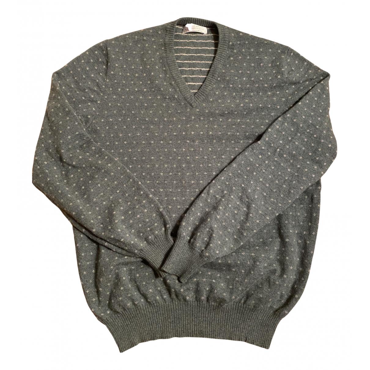 Brunello Cucinelli \N Pullover.Westen.Sweatshirts  in  Gruen Kaschmir