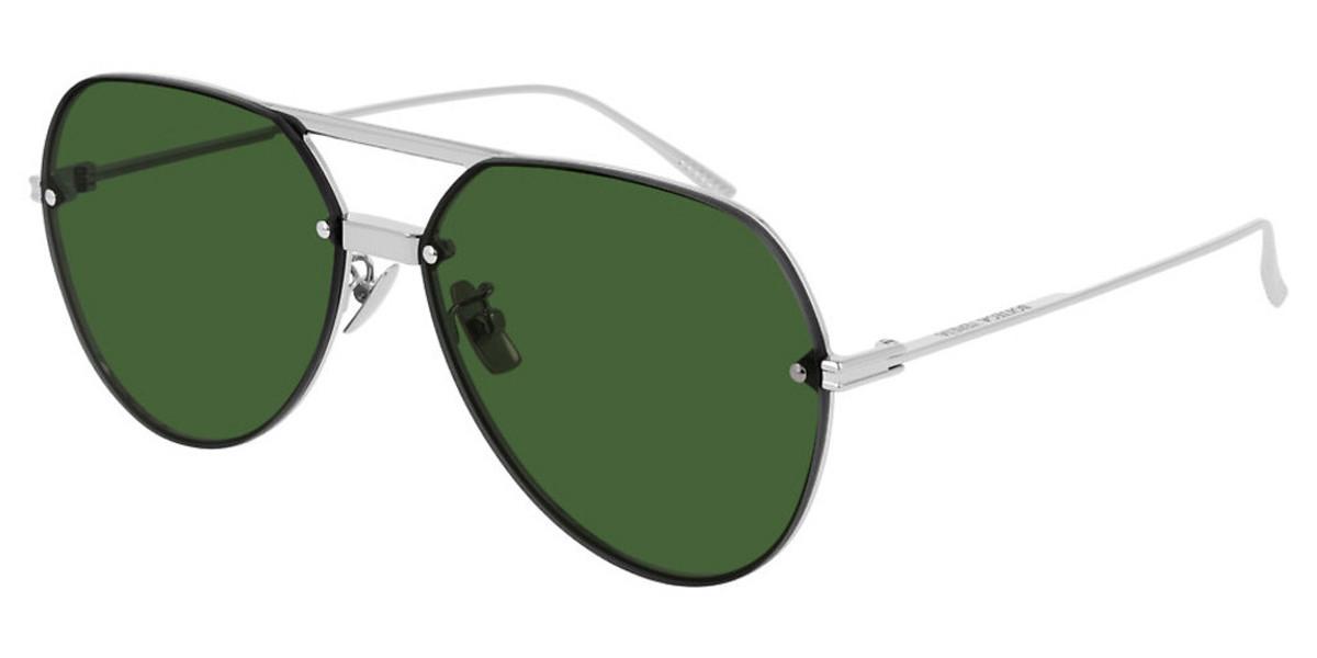 Bottega Veneta BV1054SA Asian Fit 004 Men's Sunglasses Silver Size 61