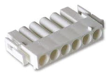 TE Connectivity , Universal MATE-N-LOK Male Connector Housing, 6.35mm Pitch, 6 Way, 1 Row (5)
