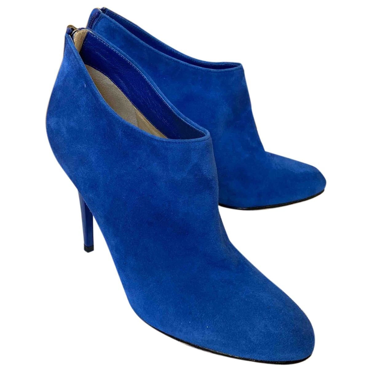 Jimmy Choo \N Blue Leather Ankle boots for Women 38 EU