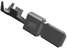 TE Connectivity , AMP MCP 6.3/4.8K Male Crimp Terminal Contact 1-963735-1 (10)