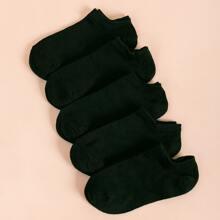 5pairs Solid Socks