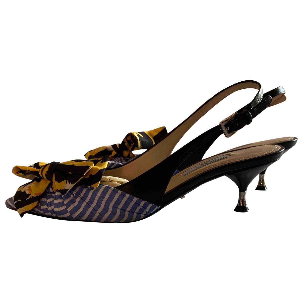 Prada \N Multicolour Leather Heels for Women 36 EU