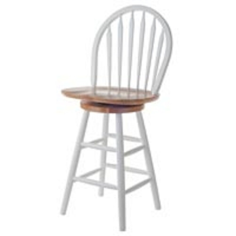 """40"""" Beige and White Wagner Arrow-Back Counter Stool with Swivel Seat (Beige)"""