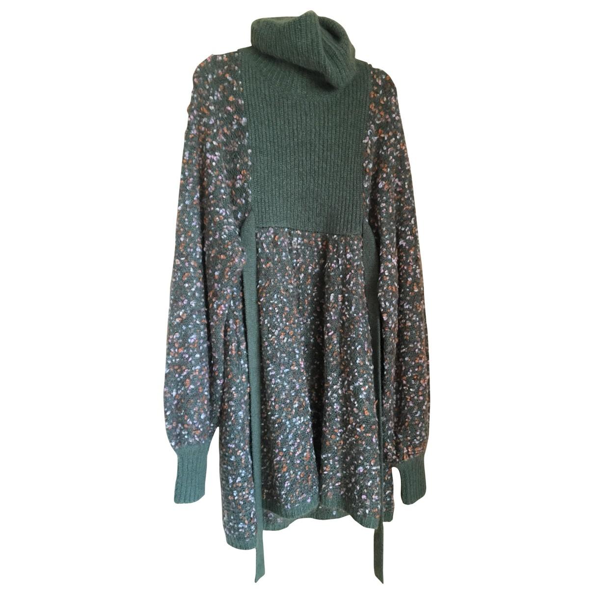 Chloe - Robe   pour femme en laine - kaki