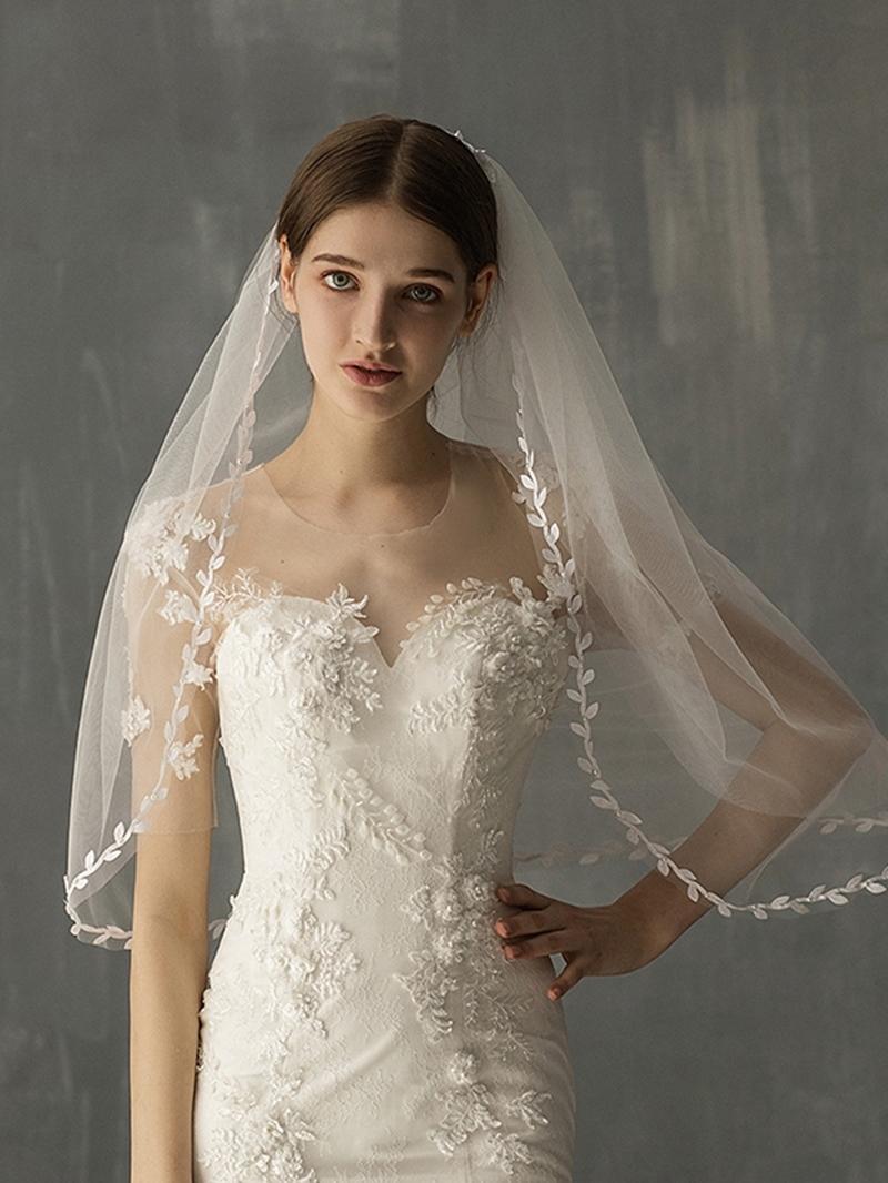 Ericdress One-Layer Lace Edge Elbow Wedding Veil