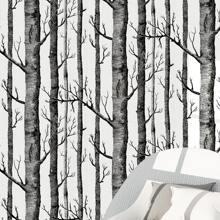 Wandaufkleber mit Baum Muster