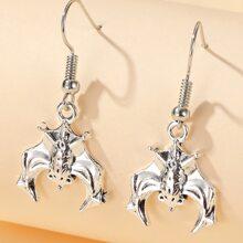 1 Paar Ohrringe mit Halloween Fledermaus Dekor