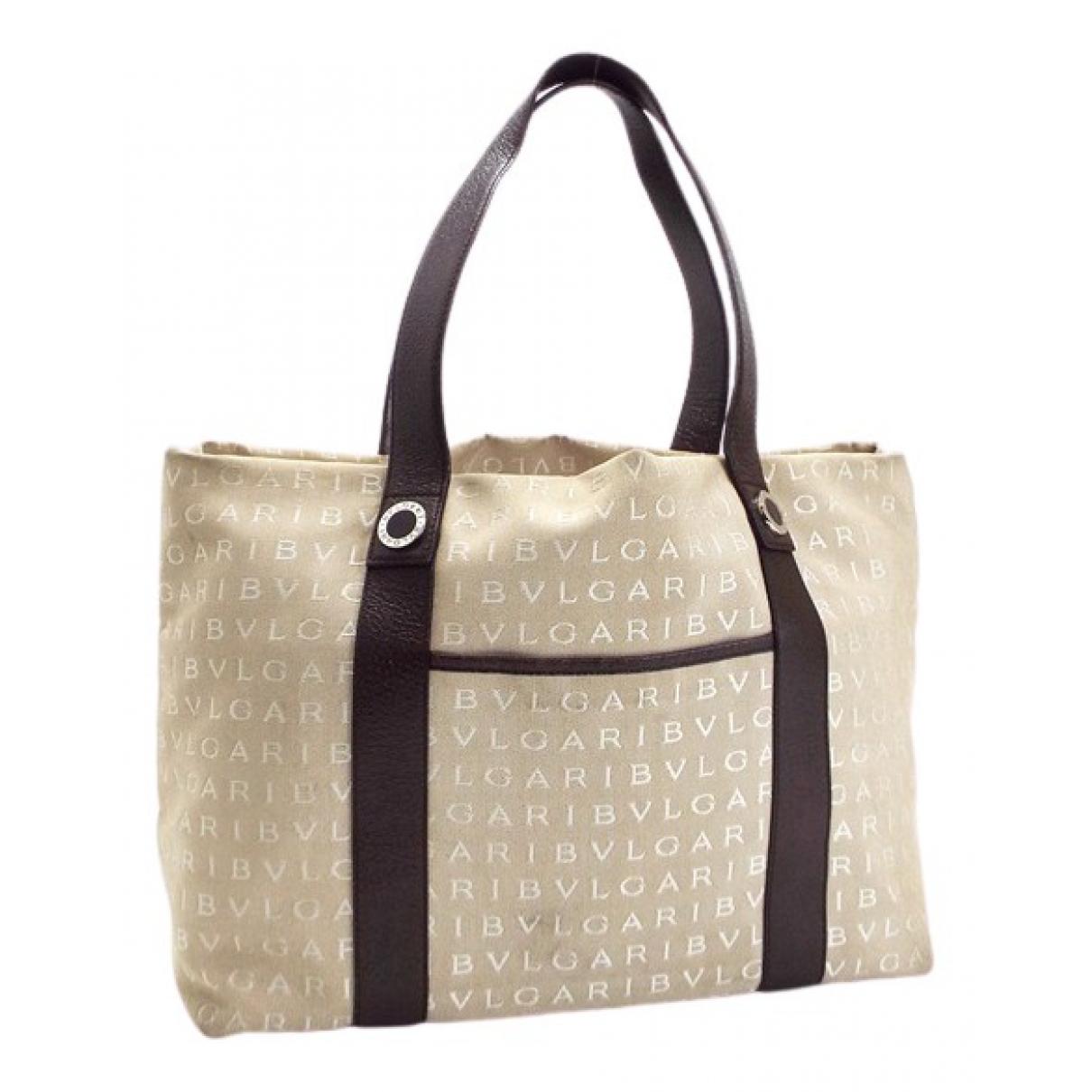 Bvlgari N Beige Cloth handbag for Women N