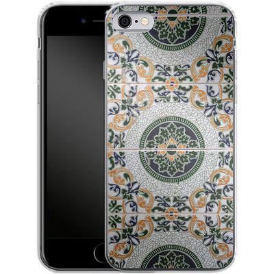 Apple iPhone 6s Silikon Handyhuelle - Yellow and Green Tiles von Omid Scheybani
