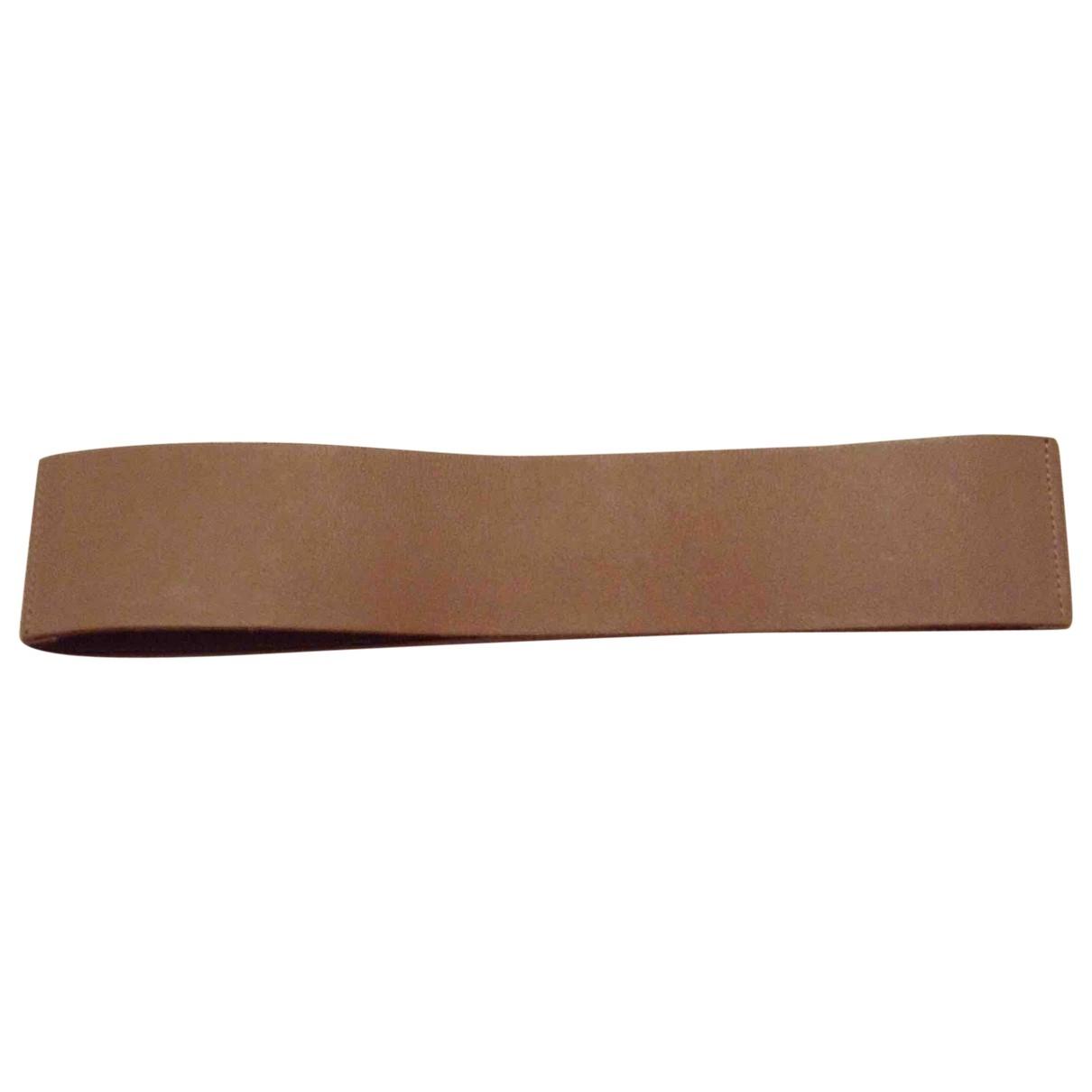 Maje \N Beige Leather belt for Women S International