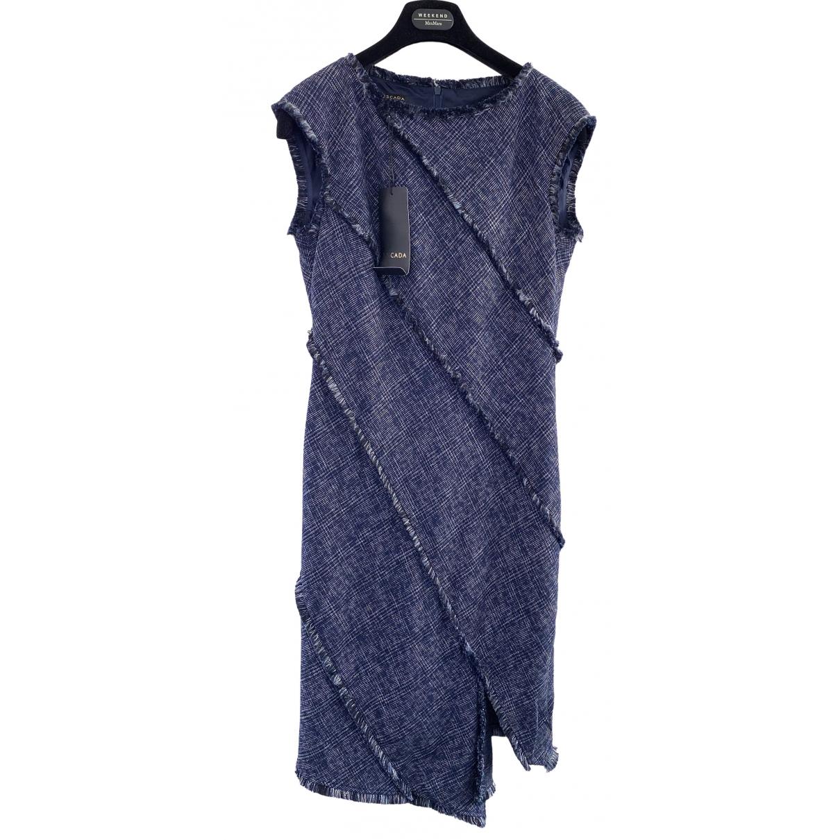 Escada \N Kleid in  Marine Baumwolle - Elasthan