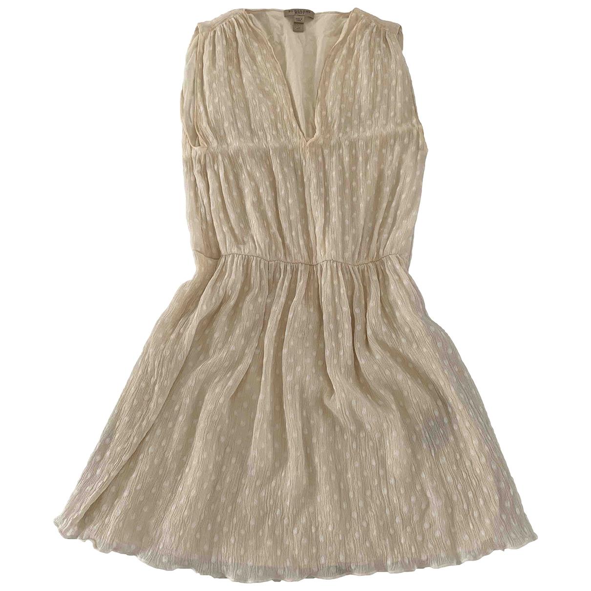 Burberry \N Kleid in  Ecru Seide