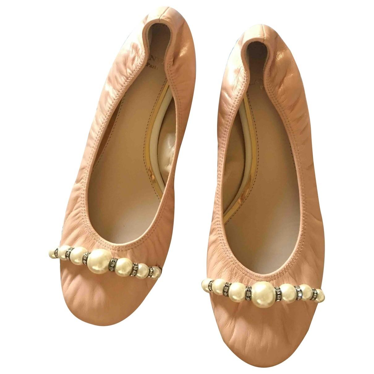 Lanvin \N Pink Leather Ballet flats for Women 36 EU