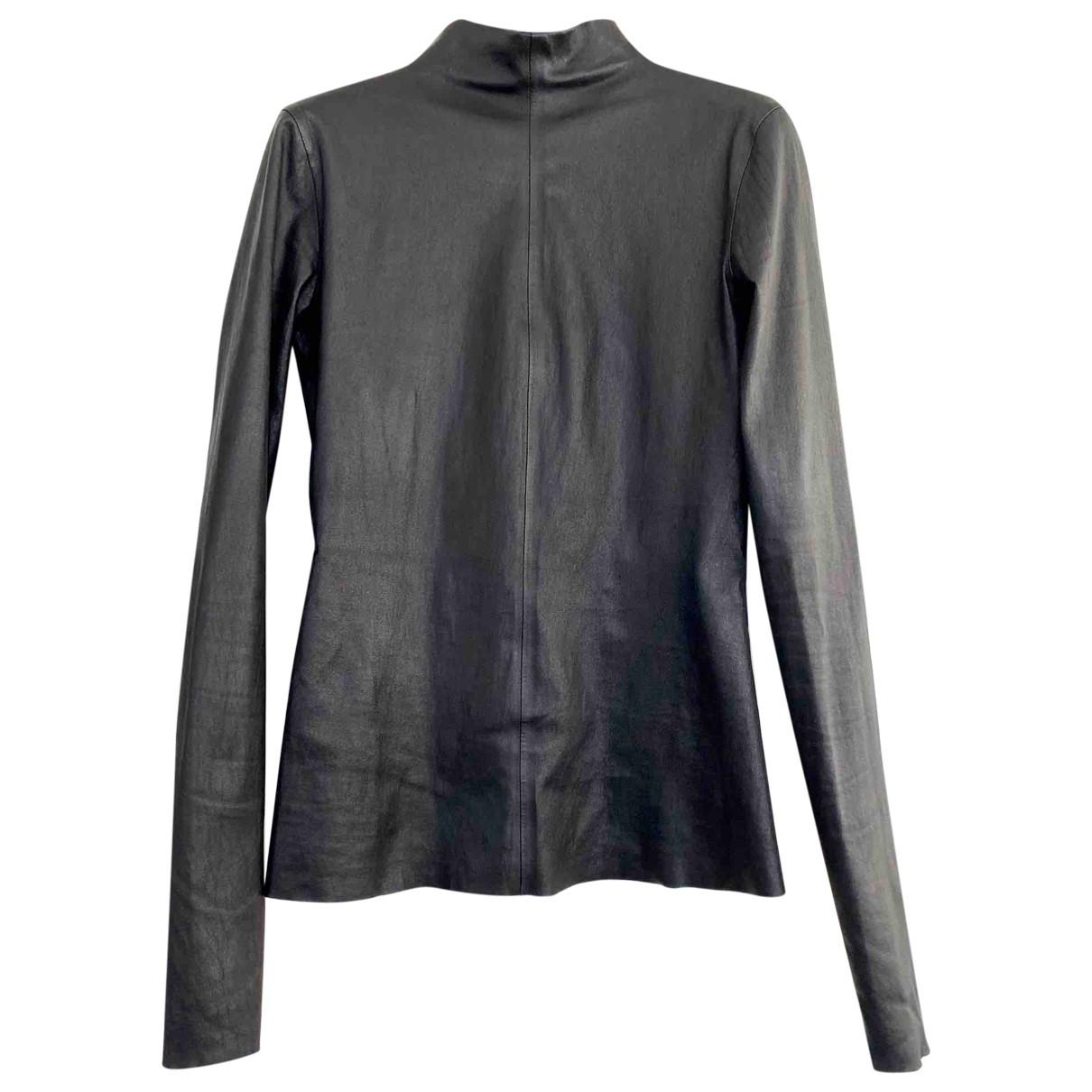Bottega Veneta \N Black Leather  top for Women 38 IT