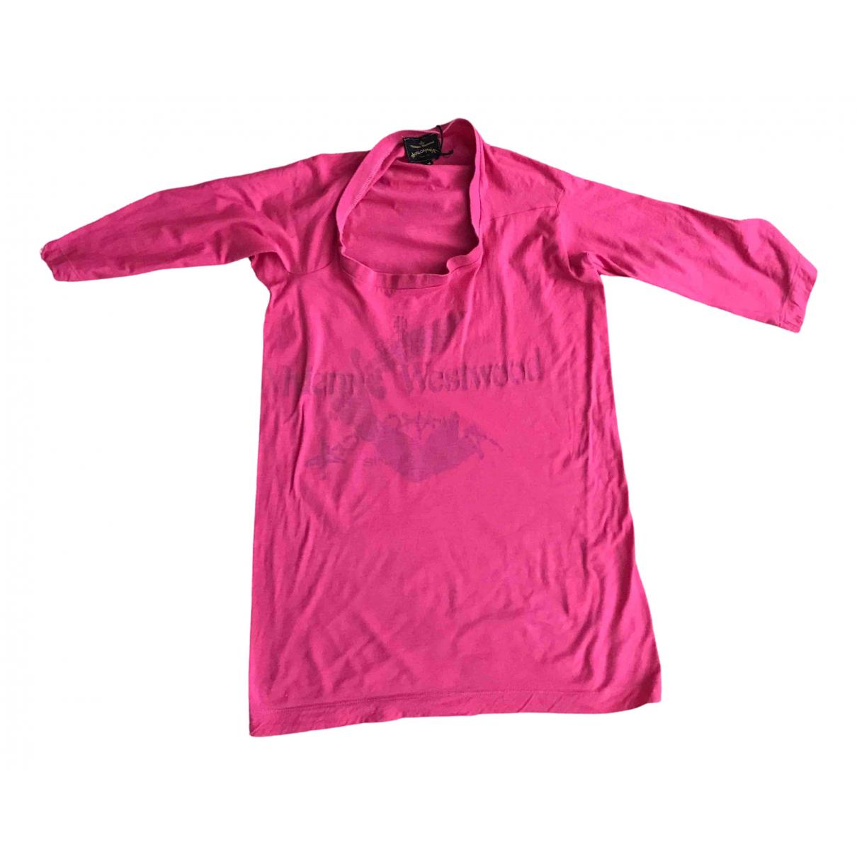 Vivienne Westwood Anglomania - Top   pour femme en coton - rose