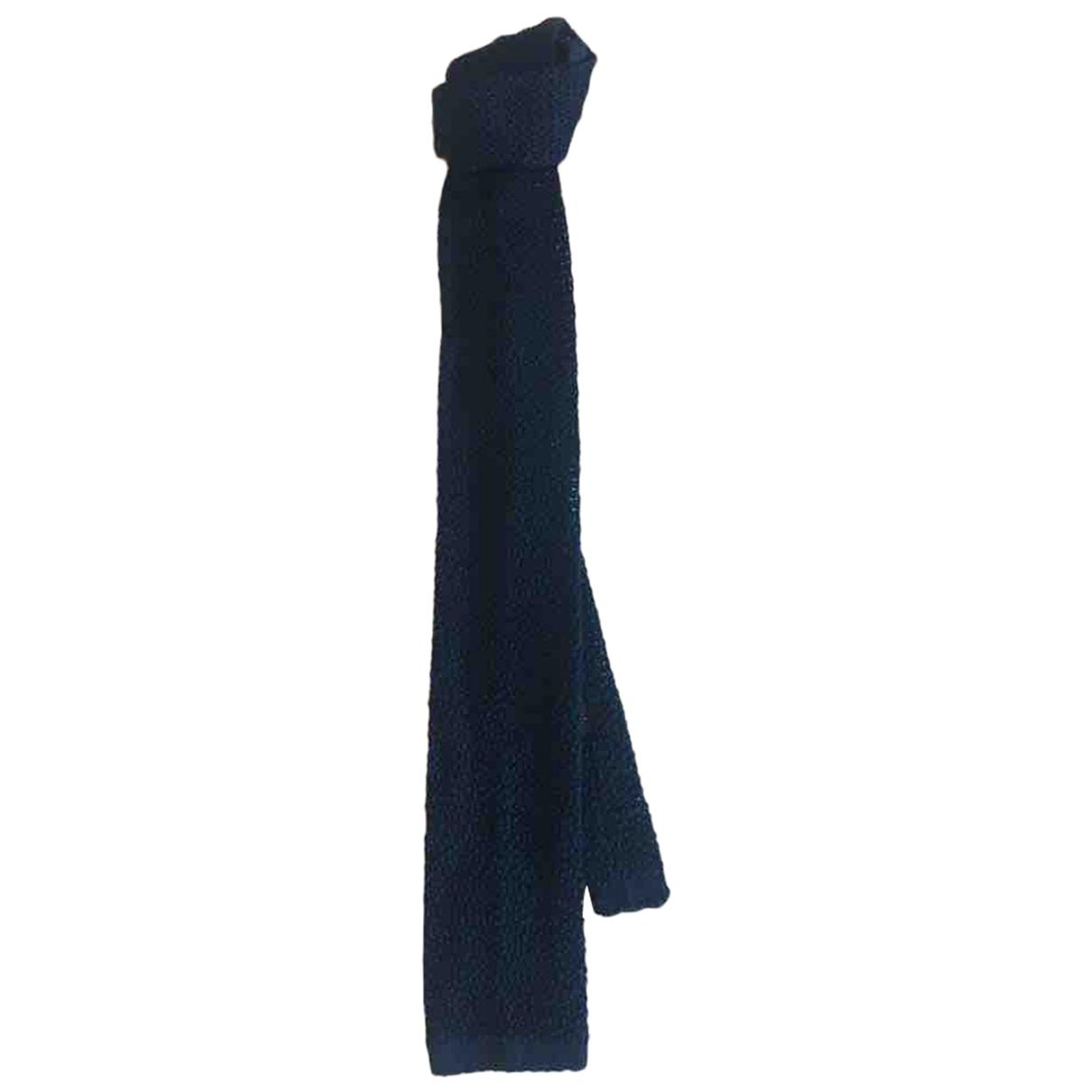 Barba - Cravates   pour homme en soie - bleu