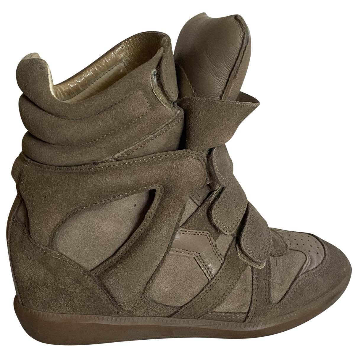 Isabel Marant \N Sneakers in  Beige Veloursleder