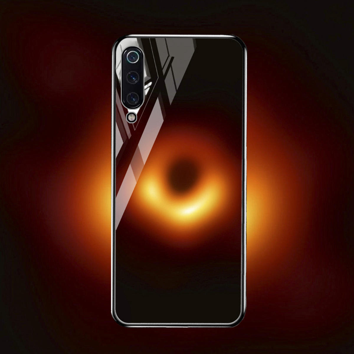 Bakeey Black Holes Collapsar Tempered Glass&Soft TPU Protective Case For Xiaomi Mi 9 SE