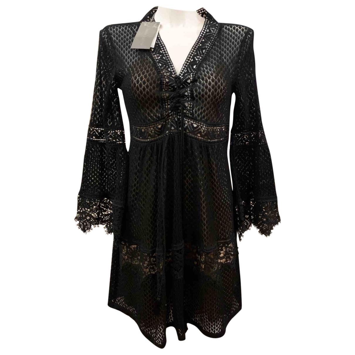 Alberta Ferretti \N Kleid in  Schwarz Baumwolle