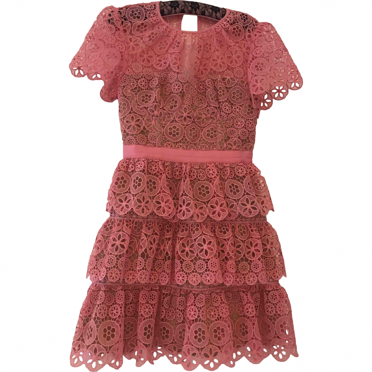 Self Portrait \N Pink Lace dress for Women 8 UK