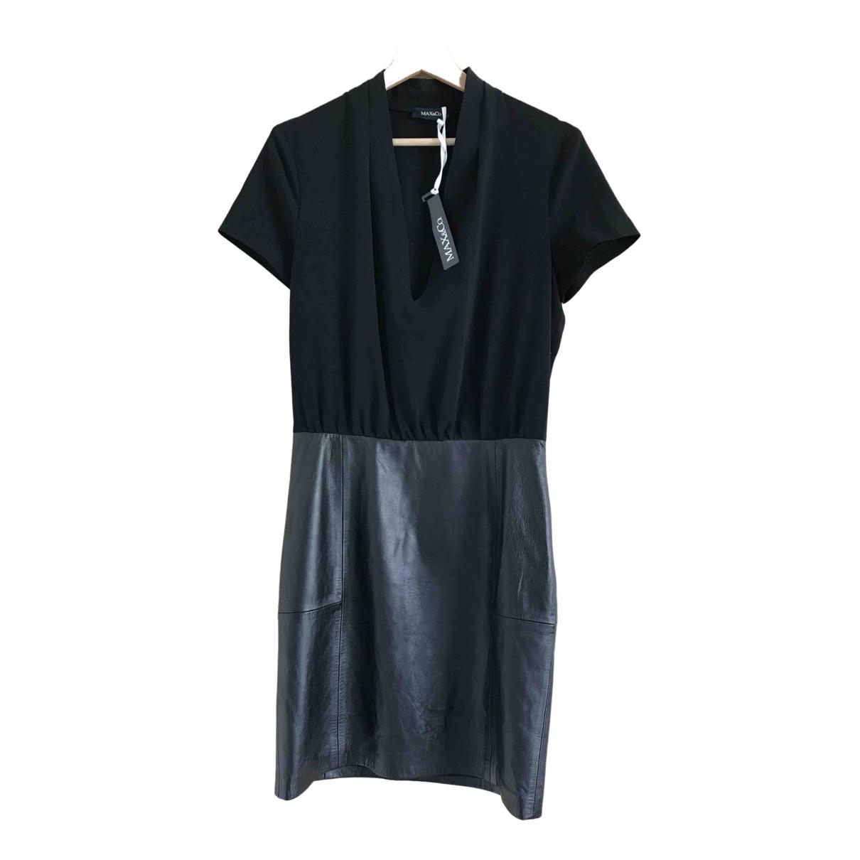 Max & Co \N Kleid in  Schwarz Leder