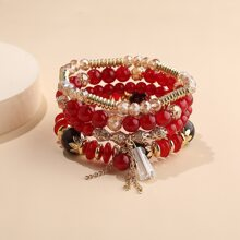 4pcs Colorful Beaded Bracelet