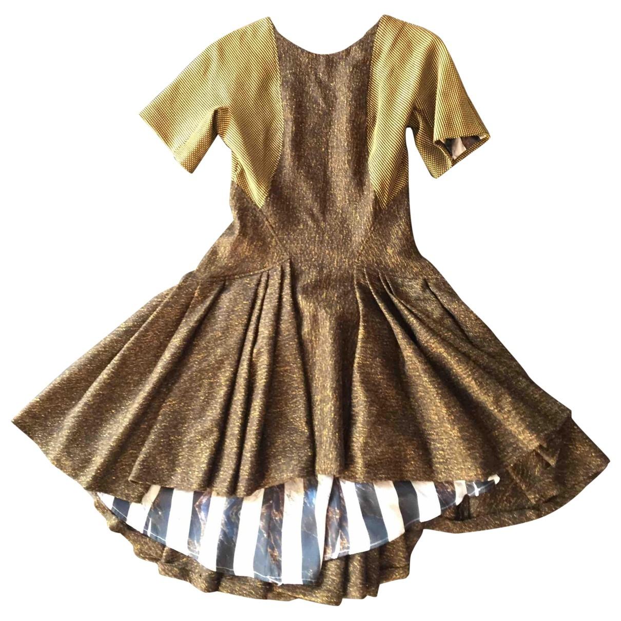 Kenzo \N Kleid in  Gruen Wolle