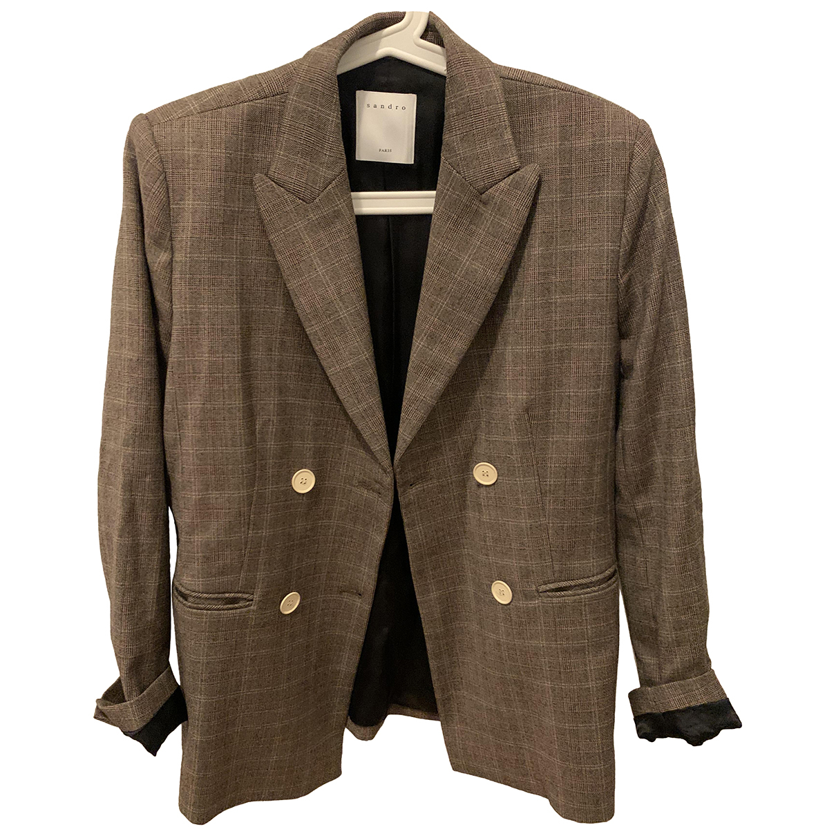Sandro N Brown Wool jacket for Women 38 FR