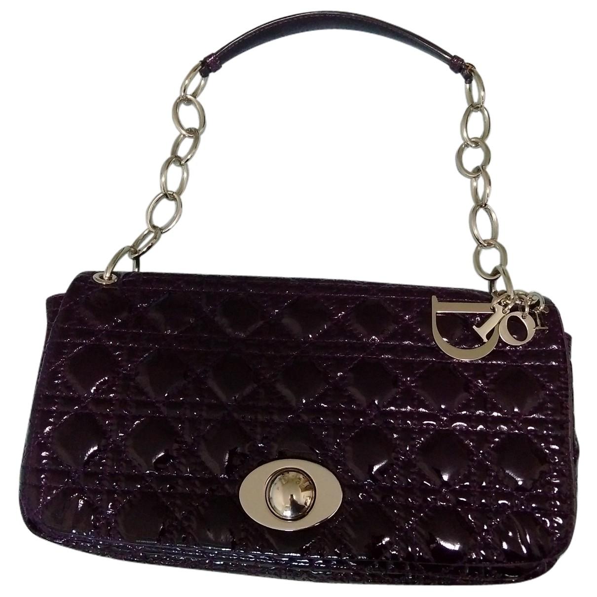 Dior \N Handtasche in  Lila Lackleder