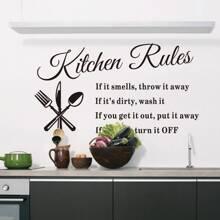 Slogan Graphic Kitchen Wall Sticker