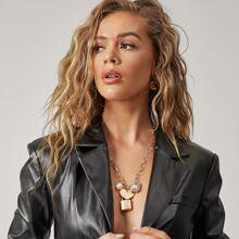 Halskette mit Verschluss & Herzen Anhaenger und Kette
