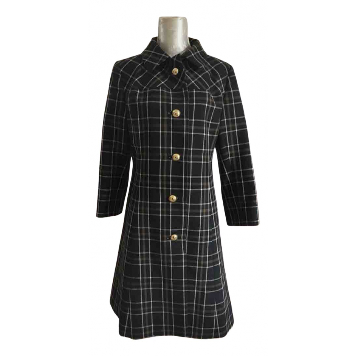 Non Signé / Unsigned \N Brown Wool coat for Women 10 UK